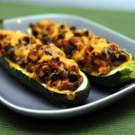 Vegetarian Mexican Stuffed Zucchini