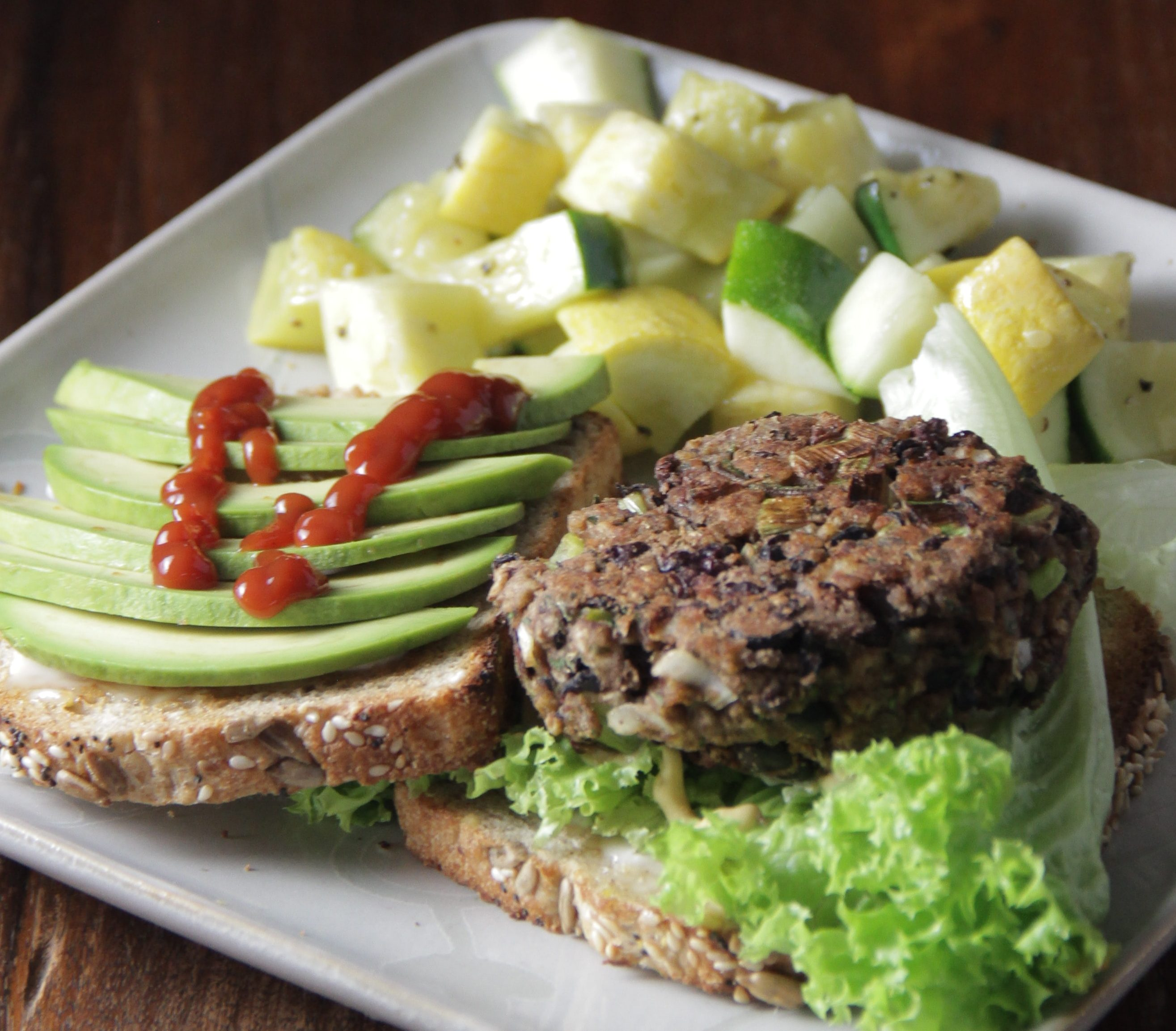Oh Yes A Black Bean Burger!  New recipe from Patricia of Warmly Nourished